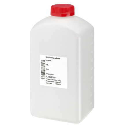 Monsterfles, 1000 ml, transparant, HDPE, 38 mm, inlage, GS, bevat Na2S2O3